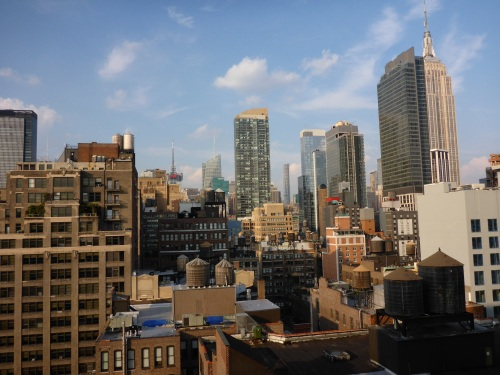 View from our hotel room in New York City