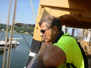 Enjoying time on the Charles W Morgan at Mystic Seaport