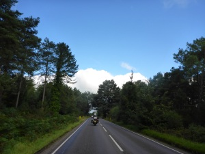 Approaching Verwood, Dorset where we started from