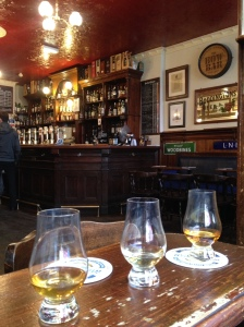 Trying 3 new single malts in the Bow Bar