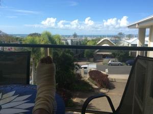 Feet (foot) up at home.....