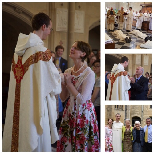 Matthew's ordination into Dominican priesthood - Blackfriars, Oxford, UK