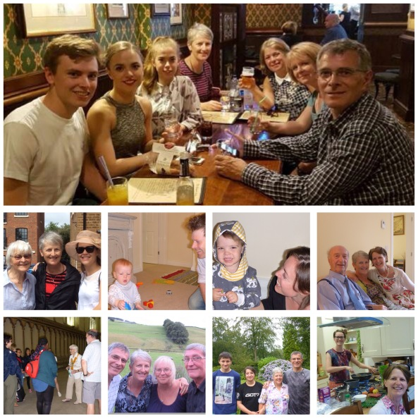 Lots of family visits in England, Scotland and Belgium