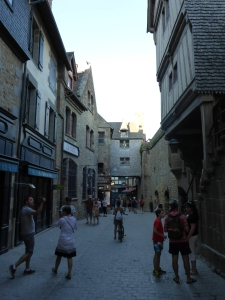 The medieval streets within the Mont-Saint-Michel