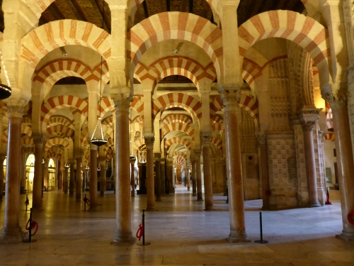 Prayer hall, Mosque-Cathedral, Cordoba, Spain