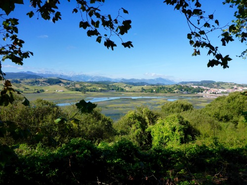 Looking back towards San vincente de la Barquera, Spain