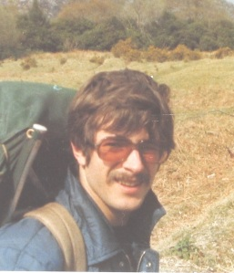 Anthony on our first camping holiday in 1977, Ireland