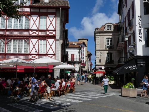 Typical street in Saint-Jean-de-Luz