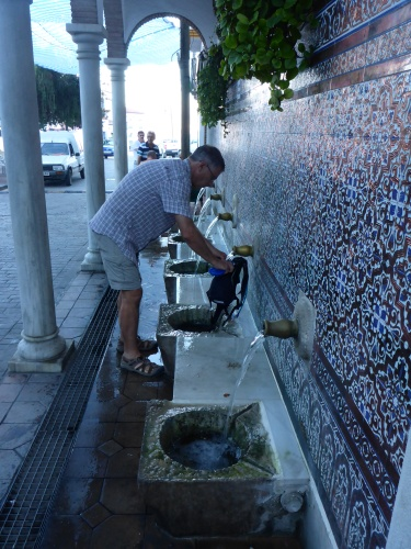 Water fountain, Alcaucin village, Spain