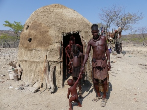 Himba family outside their living area where we spent a couple of hours