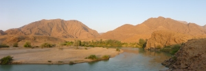 Angola across the Kunene river at Syncro Camp