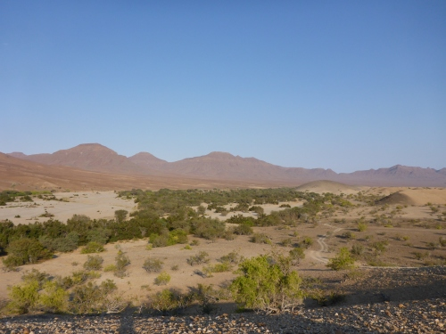 Bye bye beautiful Hoarusib river valley near Mount Himba Sphinx