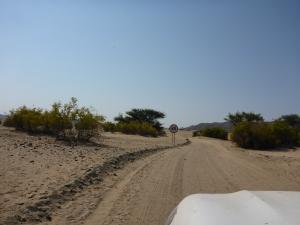 A road sign, entering Puros