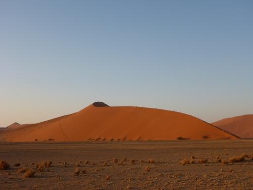 Dune 45 and climbers, Sossusvlei, Namibia