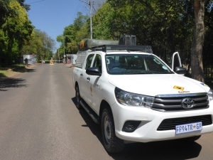 Our Toyota Hilux loaded and read to depart.