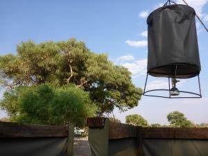 Our shower at Dijara, Botswana