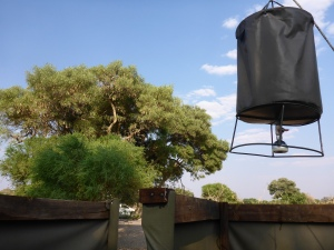 Our shower at Dijara, Botswana