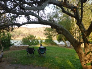 Our camp site at Kunene River Lodge