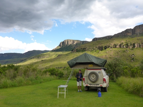 Last night camping in the Drakensburg