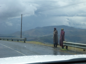 Cold and wet in Lesotho today