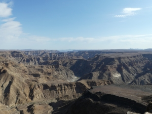 Looking south down the Fish river canyon.