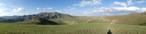 Panoramic view of the Golden gate highlands